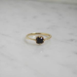 baras.s ring gd/ブラックスピネル【FR162】
