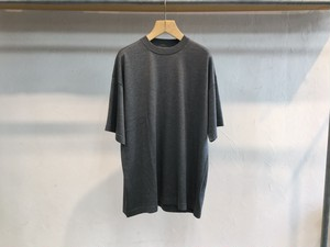 "crepuscule""Silk×Cotton Knit Tee Charcoal"""
