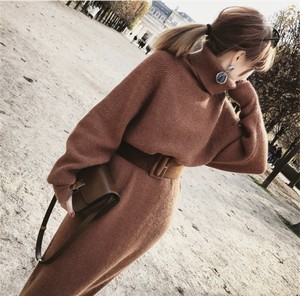 nit one-piece / brown