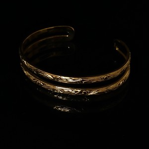 24kgp Hawaiian jewelry bangle(double)