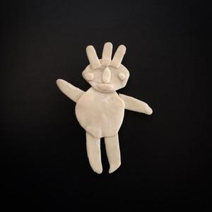 ポリマー・クレイマンのブローチ|Brooch of Polymer Clay Man