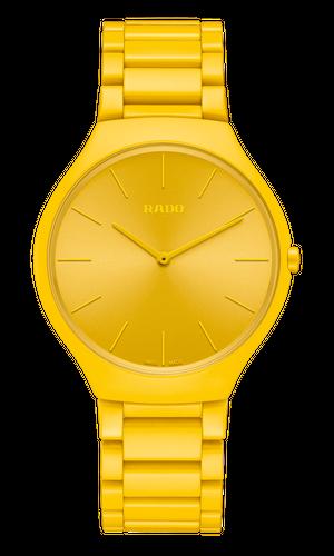 【RADO ラドー】True Thinline Les Couleurs™ Le Corbusier  Sunshine yellow 4320W シンライン ル・コルビュジエ(イエロー)/国内正規品 腕時計