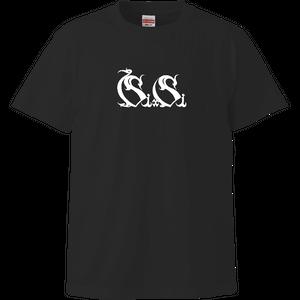 『Si×Si』Tシャツ 黒(文字のみ)