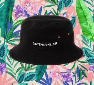 LISTENER KILLERオリジナルバケットハット〈BLACK〉