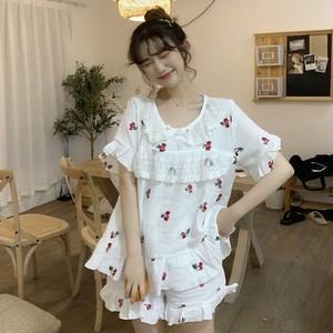 【ルームウェア】2点セット韓国風スウィート可愛いいちごカジュアルルームウェア