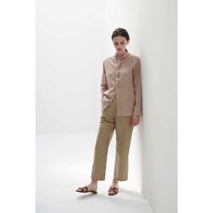 High twist linen Wing collar shirt / 0001SH03