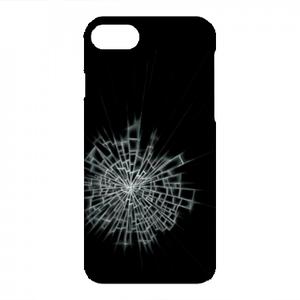 【iPhone8/7対応】ガラスひび割れハードケース#割れてる!デザイン