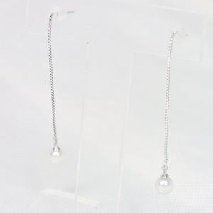 K14WGアコヤパールピアス③(4.5mm珠)