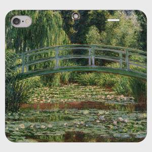 【WEB受注会】SOUVENI-ART モネ「ジヴェルニーの日本の橋と睡蓮の池 1899」 手帳型スマホケース(帯なしタイプ)