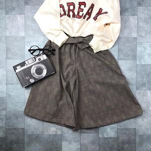 グレンチェックスカーチョno.1809002   #子供服 #子ども服 #女の子 #パンツ