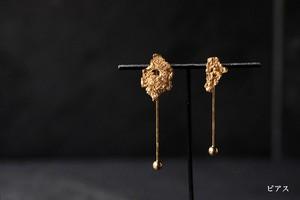 朽葉と振り子のピアス・イヤリング(gold)