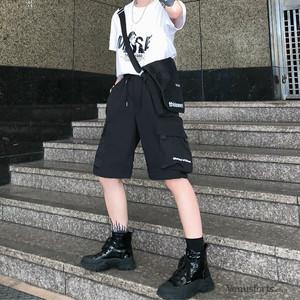 【ボトムス】無地カジュアルショートバンツ20772629