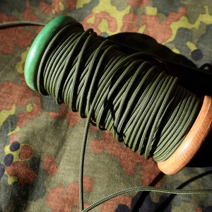 細めのパラコード 靴紐 (オリーブ) 丸紐 2.4mm