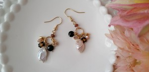 「Ovall」淡水パール×colorful★ earrings