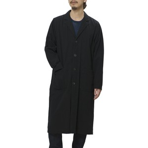 OXFORD TRIPLE NEEDLE STITCH LONG COAT - BLACK