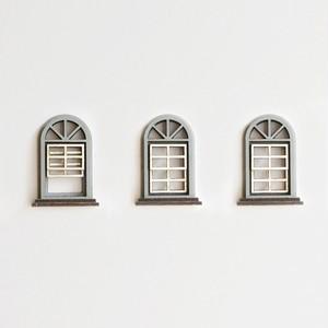 冷蔵庫がビルに。/灰色の窓のマグネット3個セット