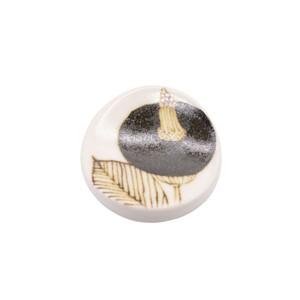 砥部焼 すこし屋 箸置き レスト 約5cm ブラウンフラワー 229026