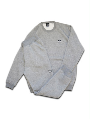 LOGO STICKER ROOM SWEAT SET UP gray