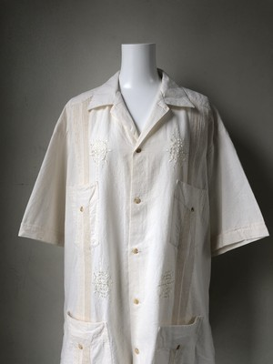 """Over size"" cuban shirt -ivory-"