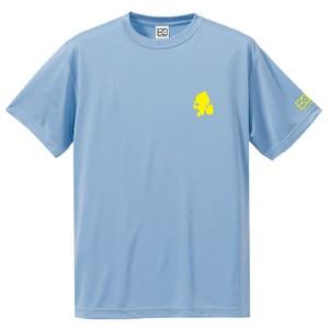 ワンポイントキャラクターTシャツ(ライトブルー×レモンイエロー)