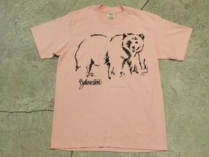 USED 80s Yellowstone Bear T-shirt -Large 0999