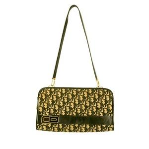 Christian Dior/クリスチャン・ディオール トロッター柄2wayセカンドバッグ ベージュ×ブラック(P13724)