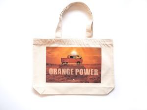 【トートバッグ】オレンジピックアップトラック(ナチュラル)