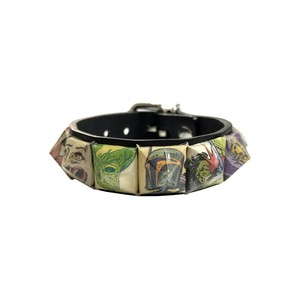 PSYCHOWORKS ONEOFF PaperStuds LeatherBracelet
