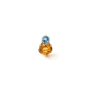Muse 2 Stones Single Petit Earring