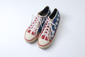 """ The Freedam Shu "" 70s Canvas Sneaker USA 星条旗プリント スニーカー 9C A782"