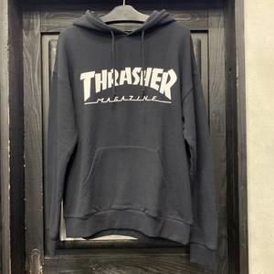 THRASHER : MAG HOOD SWEAT / BLACK/WHITE