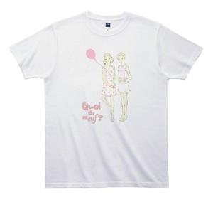 《きくちりえTシャツ》TK003/ 女子2人 1