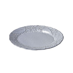 「リアン Lien」オーバルプレート 皿 長幅約25cm グレー 美濃焼 267832