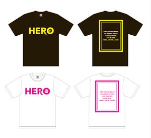 HERO Tシャツ(白・黒)