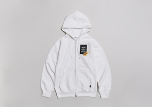 NOT TODAY SATAN 12oz ZIP PARKA   - WHT -