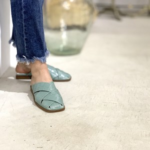 Wcross flat Mule|ダブルクロスフラットミュール_#ot81354|【Ought=na】|madeinjapan|日本製