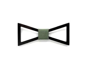 木製 蝶ネクタイ #Triangle moss green