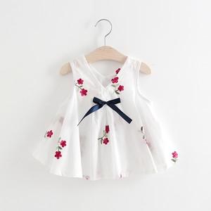 【ベビー服】人気上昇中優しい雰囲気リボン付けカジュアルワンピース19846913