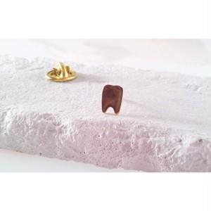 """◆Brass Tooth◆ 真鍮 """"歯"""" ピンバッジ【M】"""
