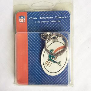 NFL マイアミ ドルフィンズ MIAMI DOLPHINS メタル キーホルダー キーチェーン タグ 1376