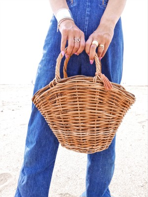 tassel basket -large-