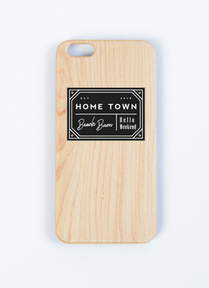 Wood iPhone Case - HOME TOWN