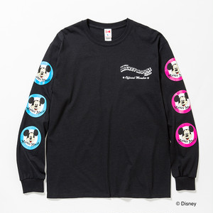 MICKEY MOUSE CLUB L/S TEE - BLACK