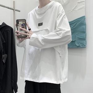オーバーサイズ無地デザインTシャツ