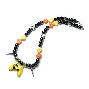 SAD44mg「 Game Yellow 」Handmade Necklace