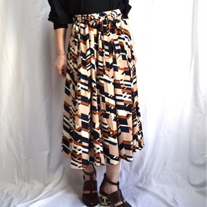 retro geometric skirt レトロ柄 スカート 幾何学柄 スカート