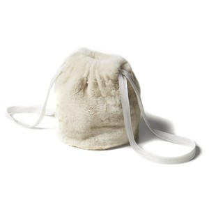 【FILL THE BILL】REX FUR PURSE - WHITE