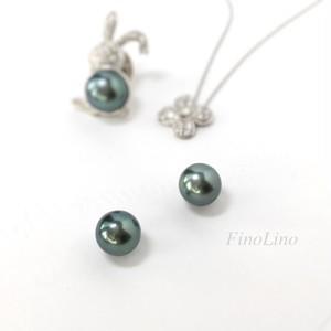 タヒチパール (黒蝶真珠) ピアス 用 ルース ペア
