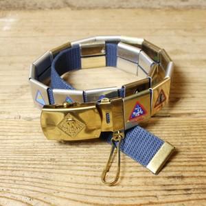 USA製 BSA ボーイスカウト CUB SCOUTS ブラスバックル ウェブベルト ガチャ 真鍮 ネイビー 紺 アメリカ古着 040721ss204