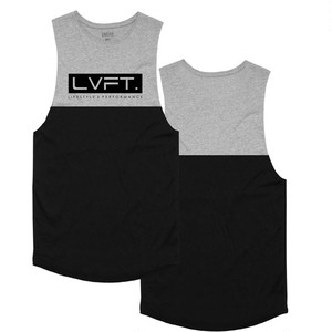 LIVE FIT Divided Tank - Black / Heather Grey